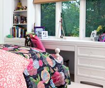 girl's bedroom and bath